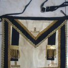 GORGEOUS MASTER MASONIC GOLD & NAVY APRON ISRAEL