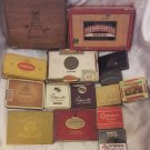 LOT OF 14 VINTAGE TOBACCO CIGARS CIGARETTES BOXES & PASTILLES:PHILLIES,CRAVEN,..