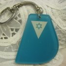 IDF Navy Force Flag Lucite Keychain Israel 1960's ~ Rare