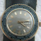 RAKETA WORLD TIME CALENDAR WIND UP MENS WATCH