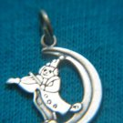 "SILVER PENDANT ""CLOWN PLAING ON A VIOLA ON THE MOON"" ISRAEL"