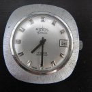 VINTAGE SWISS RENIS GENEVE MEN'S WATCH * BRUSHED STAINLESS STEEL