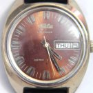 RUSSIAN SLAVA 26 JEWELS MENS WATCH ~ DAY DATE