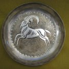 Vintage Capricorn 830 silver Decorative Platter Cyprus