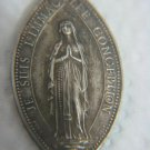 """OLD FRENCH SILVER CATOLIC MEDAL """"NOTRE DAME DE LOURDES"""""""