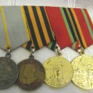 Soviet Medals Group: For Combat Service, Victory WWII