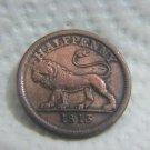 1813 HALF PENNY HALFPENNY LION TOKEN