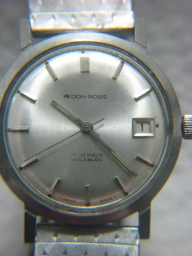 VINTAGE AEDON-ROSS SWISS DATE 17 JEWELS MEN'S WATCH