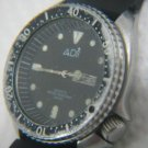 LARGE ADI DIVER DAY/DATE WATER RESIST WATCH ISRAEL