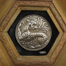 BE MIGHTY AS THE LEOPARD... Sterling Silver Artwork, signed, framed ~ ISRAEL