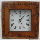 ORIENTAL STYLE ENCRUSTED WOODEN QUARTZ CLOCK ENGLAND