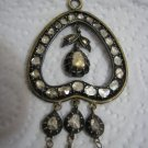 Fabulous Antique XIX century Russian Rose Cut Diamonds in 14k Gold Pendant