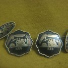 Ancient Egyptian mythology Komai 24k GP Cufflinks Japan