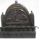 Antique Bezalel Hanukkah Menorah Brass Lamp ~ Amazing
