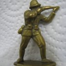 Vintage WWII British Toy Soldier Brass Figurine