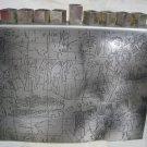 """""""100 Years of Zionism"""" Art Hanukkah Menorah Lamp, Arie Ofir Bezalel Israel 1997"""