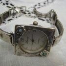 LINOR Artistic 925 Silver Opal Flower Bracelet Watch Israel