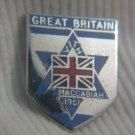 Great Britain VIth Maccabiah 1961 Enamel badge Israel