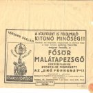 """FOSOR"" CHAMPAGNE SHARE W/STAMP 1931 HUNGARY"