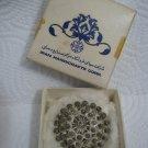 Vintage Persian Sterling Silver Filigree Brooch
