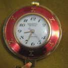 GIGANTIC Geneve Gold Enamel Quartz Watch Pendant&chain