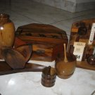 EXCEPTIONAL COLLECTION OF OLIVE WOOD ISRAEL 1950's