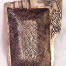 KIBBUTZNIK ~ RARE LARGE BRASS ASHTRAY by PAL BELL ISRAEL 1950's