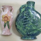 Pair of Small Vintage Art Ceramic Vases Israel