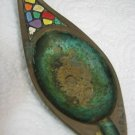 VINTAGE MULTICOLORED BRASS ASHTRAY DAYAGI ISRAEL