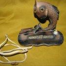 FISH Bar-Mitzvah Gift ~ Brass Lamp & Calendar Holder