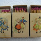 AINA STENBERG COSTUME Vintage Match Boxes Sweden
