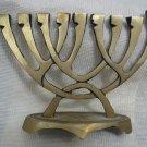 SHIN ~ BRASS HANUKKAH MENORAH LAMP by WAINBERG ISRAEL