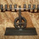 MEDINAT ISRAEL FIRST HANUKKAH 1948 SOLID BRASS MENORAH LAMP IDF