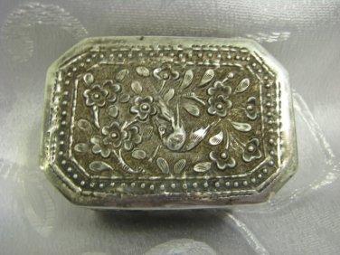 Vintage Hand made Silver plated Trinket / Tobacco Box Vietnam