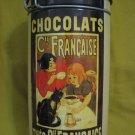 """Vintage Chocolats Cie. Francaise Tin Box 7.5"""""""