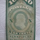 10 cents U.S.Postage NEWSPAPER AND PERIODICALS 1863