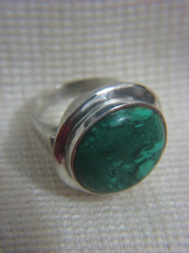 Huge Eilat Stone Sterling Silver Ring Israel