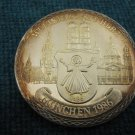 EXTREMELY RARE MUNICH MUNCHEN GERMANY 1986 SILVER 999 MEDAL CITY WITH HEART