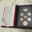 1989 CANADA PROOF 7 COINS SET DOUBLE SILVER DOLLAR 200TH ANNI MACKENZIE + CASE