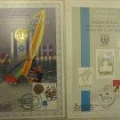 2 ISRAEL STAMPS SETS: GOLD OLYMPIC MEDAL  ATHENS 2004 & BARCELONA 1992