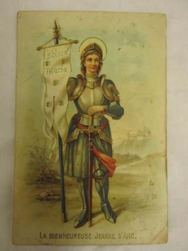 RARE VINTAGE EMBOSSED LA BIENHEUREUSE JEANNE D'ARC COLORFUL POSTCARD