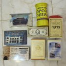 LOT OF 8 OLD TZEDAKAH CHARITY BOXES JUDAICA ISRAEL