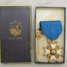 CENTENARY RARE OSTEND-DOVER STEAMSHIP BELGIUM 1946 GILT ENAMEL CROSS +PIN BOXED