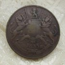HALF 1/2 ANNA EAST INDIA COMPANY 1835 VF