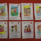 "LOT of 57 ""LOVE IS"" CHEWING BUBBLE GUM WRAPPERS ~1997 SERIES~ENGLISH & RUSSIAN"