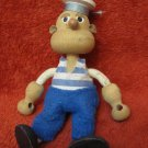 VINTAGE ISRAEL WOODEN SAILOR DOLL FIGURINE HANDMADE