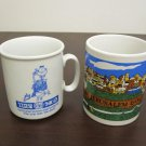 LOT OF 2 VINTAGE ISRAEL MUG CUP NAAMAN CO-OP NORTH & JERUSALEM