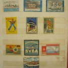LOT #11 OF 10 VINTAGE RARE MATCHBOX LABELS SHIPS NAVY