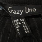 """CRAZY LINE"" BEAUTIFUL WOMEN BLACK STRIPES HAREM FORMAL PANTS BAGGY"