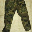 VINTAGE MILITARY COMBAT IDF ZAHAL CAMOUFLAGE XXL PANTS RAINSUIT TROUSERS
